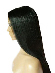 18inch Yaki Straight Style Fashion Beautiful 100% Virign Indian Human Hair Front Lace Wig(#1,#1b,#2,#4)