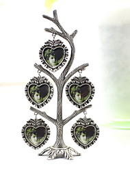 "7""H Modern Style Tree Shape Metal Picture Frame"