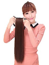 Women Synthetic Horsetail Ponytail Straight Hairpiece Heat Resistant Fiber Cheap Cosplay Party Hair Extension