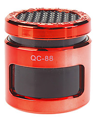 Portable Stereo Speaker with USB Flash Dish Supported(Red)