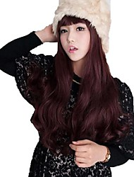 Body Wave Full Bang Synthetic Long Wavy Wigs Heat Resistant