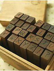 Lettere maiuscole Stampers legno - Set di 28 pezzi