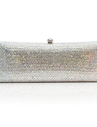 Silver Handmade Beads Womens Handbag Clutch Wedding Evening Make-up Bag