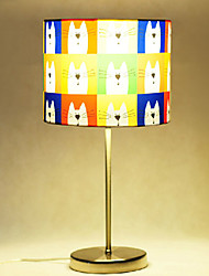 Table Lamps, 1 Light, Characteristic Stainless Steel Fabric Painting