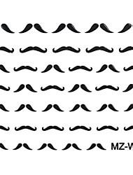 2PCS Beard Nail Art Stickers Mixed Patroon No.14-16