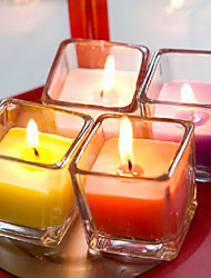 свадьба декор площади подстаканники обету свечи - набор из 4 (случайный цвет)
