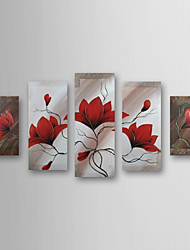 Hand-painted Oil Painting Floral Oversized Landscape Set of 5