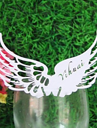 Place Cards and Holders Angel's Wing Placecard for Wine Glass - Set of 12