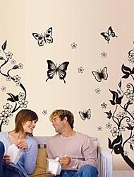 Galhos de animais e flores adesivos de parede
