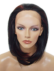 Lace Front Stylish Medium-length Heat-resistant Synthetic Wig(Mixed Color)