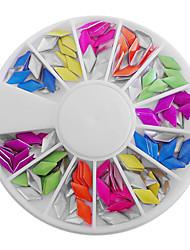 Doces misturados a cores fluorescentes em forma de diamante Decorações Nail Art