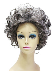 Capless High Quality Synthetic Janpanese Kanekalon Short Mixed Color Curly Hair Wig