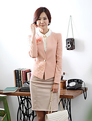 Women's Suits & Blazers , Cotton Blend Casual DOWISI
