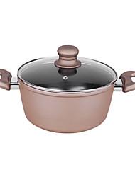 4QT-5.5qt potes de sopa de alumínio com punho de borracha