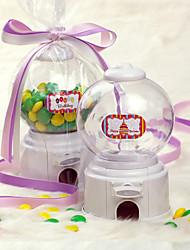 Music Box Shaped Candy Machine / Money Pot met Lint