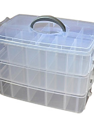 Classic transparente Joyería Organizador Bins Trilaminar
