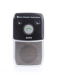Solar-powered Wireless Bluetooth Hands Free Car Kit Speakerphone for iPhone HTC Samsung