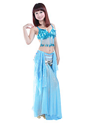 Belly Dance Undergarments Women's Training Polyester Tassel(s) Blue / Gold / Purple Belly Dance / Ballroom Spring, Fall, Winter, Summer