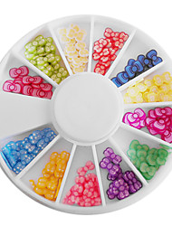 Mixed-color Polymer Clay Bowknot Wheel Nail Art Decorations