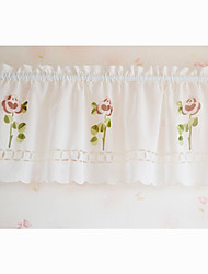 "Country Minimalist Fresh Style Blooming Flowers Pattern Valance (18""L×59""W)"