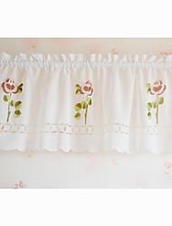 """Pays minimaliste Style frais floraison des fleurs Motif Valance (18 """"L x 59"""" W)"""