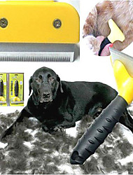 Hair and Fur Grooming Tools for Pets(Yellow,L)