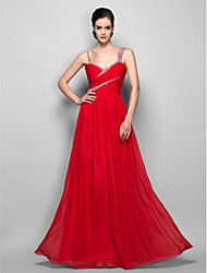 Prom / Formal Evening / Military Ball Dress - Plus Size / Petite Sheath/Column Straps Floor-length Chiffon