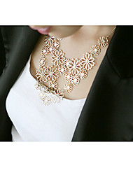 romântico japonica camellia colar declaração oca