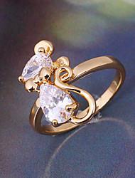 Minmin Women's 18K Gold Zircon Ring J0388
