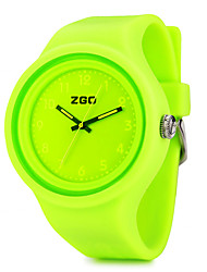 ZGO Children's Jelly Color Dial Colorful Silicone Band Quartz Analog Water Resistant Sport Wrist Watch Cool Watches Unique Watches
