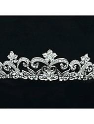 3,6 centímetros Limpar Áustria strass noivas casamento floral Tiara Headband