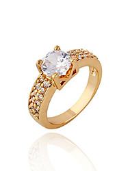 Minmin Women's 18K Gold Zircon Ring J0012