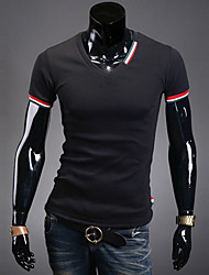 Men's V Neck Short Sleeve Slim Fit Casual T-Shirt