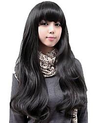 Señora encantadora llena larga de Bang sintético pelucas onduladas 5 colores disponibles