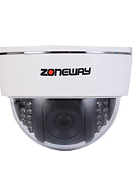 ZONEWAY® HD 1080P Indoor Plastic ONVIF IP Dome Camera for Home Security (P2P,22pcs IR LEDs)