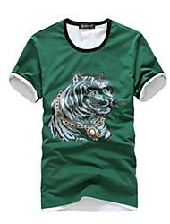 Men's Fashion Leisure Cotton T-Shirt Tee