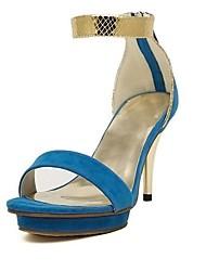 Beflockung Damenschuhe Hochzeits Stiletto Pumps Sandalen Schuhe mit Reißverschluss