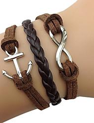 Mlle bracelet rose®fabric rétro multicouche 8-mot bracelet d'ancrage
