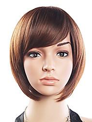 20% de cheveux humains 80% synthétique résistant à la chaleur fibre Side cheveux Bang perruque courte