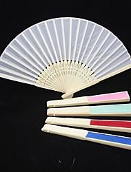 Solide Couleur Raw main ventilateur en soie (plus de couleurs)