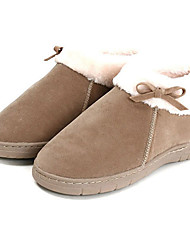 Slide Casual solide beige laine Femmes Slipper