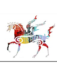 Hand Painted Oil Painting Abstract Pegasus Horse  with Stretched Frame