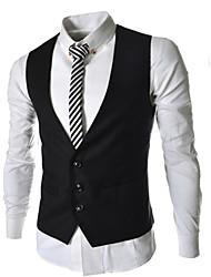 Uomo Button Fashion Tre Vest