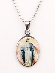 Personalizada del regalo del modelo Silver Maria grabado collar