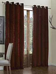 Modern Two Panels Solid  Living Room Window Curtains Drapes