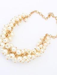 tribunal europe et aux états-unis de rétro imitation collier de perles