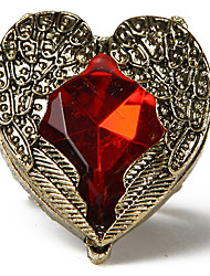 Herzförmig Yiyi Red Jewel Ring (Screen Color)