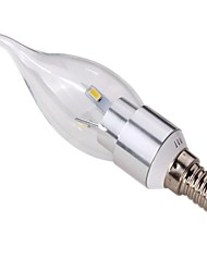 E14 3W 6 * 5630SMD 270-300LM 3000K/6000K Warm White / White LED Candle Light (AC 110V-240V)