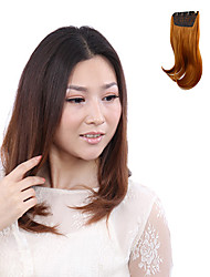 High Temperature Resistance Japanese Kanekalon Fiber Light Brown Curly Clip In Hairpiece Extension