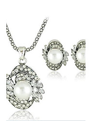 Sistema de la joyería europea del estilo del collar del pendiente de la aleación